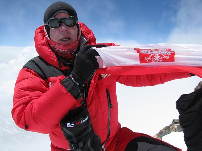 Artur Hajzer na szczycie Nanga Parbat
